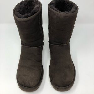Ugg Classic Short Chocolate Brown Boots Size 8